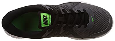 Nike Men's Revolution 2MSL Black Green and White Running Shoes(554954-059)