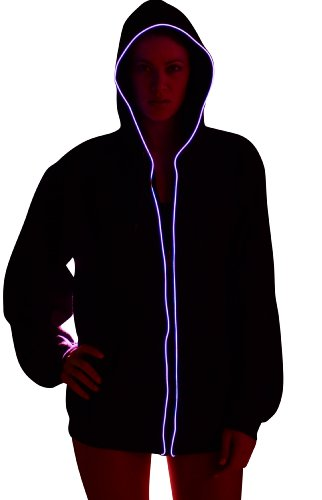 Light Up Hoodies By Electric Styles (Small, Pink)