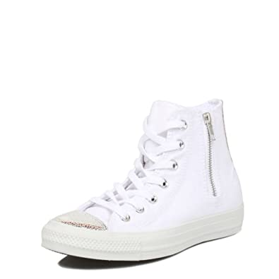 Buy Converse Ladies Side Zip Hi White Trainers by Converse
