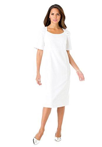 d019e2bfdb6 Roamans Women s Plus Size Sheath Dress White