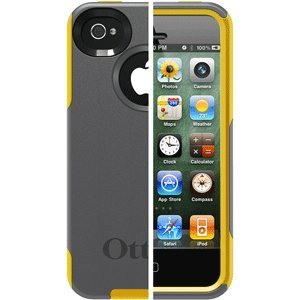 OTTERBOX COMMUTER CASE IPHONE 4S GUNMETAL GRAY SUN YELLOW OTTERBOX COMMUTER CASE IPHONE 4S GUNMETAL