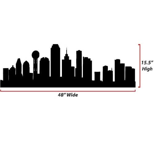 Dallas Skyline Silhouette  Large  Vinyl Wall Decal Everything Else