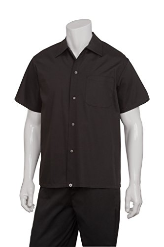 Chef Works KCBL-BLK Black Utility Cook Shirt, Size S (Chefs Work Shirt compare prices)