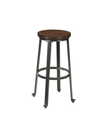 Ashley Furniture Signature Design Challiman Tall Stool, Rustic Brown, Set of 2, Pub Height (Amazon Bar Stools compare prices)