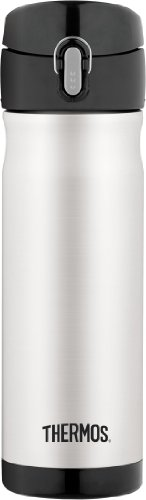 Thermos Vacuum Insulated Stainless Steel Drink Bottle, 16-Ounce, Stainless Steel front-572468