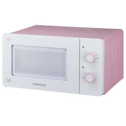 Daewoo QT3 Compact Microwave Oven, 14 L, 600 W - White/Pink