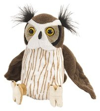 "Wild Republic CK-Mini Great Horned Owl 8"" Animal Plush"