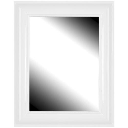 Brio 22502 miroir modena blanc 40 x 50 cm entr e for Miroir 40 cm