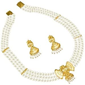 3 Line Freshwater Pearl Necklace Set - SP-380