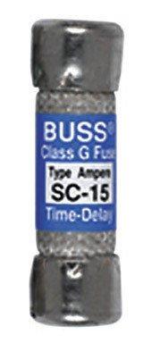 Bussmann Bp/Sc-15 15 Amp Time-Delay Class G Melamine Tube, 600V Ul Listed Carded, 2-Pack