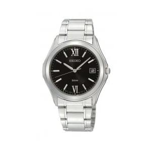 Seiko Gents Black Dial Stainless Steel Watch - SGEF21P1