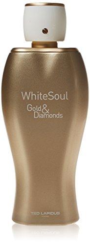 Ted Lapidus Female, Eau de Parfum Donna Soul Gold and Diamonds, Bianco, 100 ml
