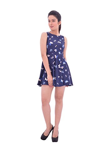 YUGA-Hot-Blue-Butterfly-Print-One-Piece-Frock