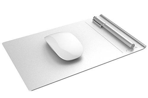 Seenda Aluminium Mouse Pad with Non-Slip Rubber Base, Silver (Aluminum Mouse Pad compare prices)