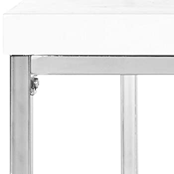 Safavieh Home Collection Malone White and Chrome Coffee Table