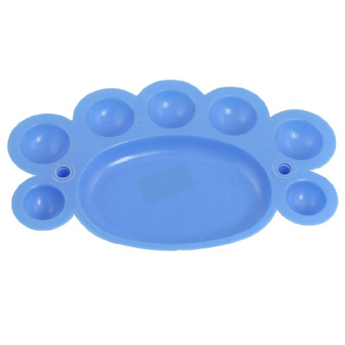 Amico Students Painting Plastic Plate Dish Watercolor Palette Blue