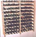 Vinland 120 Bottle Wine Rack, 12 wide by 10 high