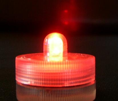 Submersible Battery LED 10 Lights~RED~Wedding~Tea Light