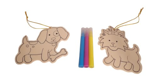 WeGlow International Dog Wood Ornament Kit, Makes 2 (Set of 3)