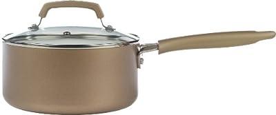 WearEver C94424 Pure Living Nonstick Ceramic Coating Sauce Pan, 3-Quart, Gold