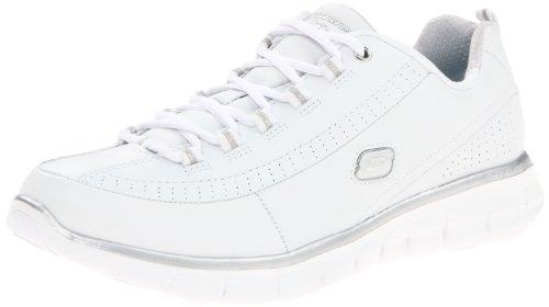 Skechers Synergy-Elite Status, Zapatillas de Deporte Exterior Para Mujer, Blanco (Wsl), 39 1/2 EU