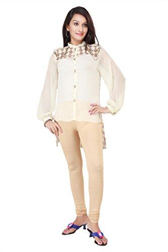 ADS Womens Digital Print Cream Kurti/Tunic(ADS15)