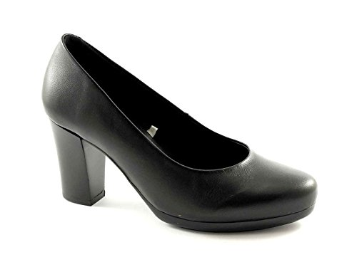 GRUNLAND AQUA SC1595 nero scarpe donna decolletè pelle plateaux 39