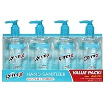 Germ-X Hand Sanitizer with Moisturizing Vitamin E - 4/10oz. Bottles