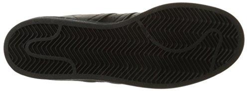 Adidas Originals Men's Superstar Foundation Casual Sneaker, Black/Black/Black, 9 M US