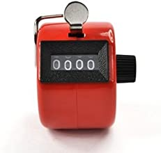 Generic Bluecell Red Color Handheld Tally Counter 4 Digit Display for Lapsportcoachschoolevent
