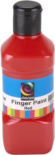 Omega Finger Paint, 250ml, Red