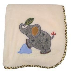 Zoofari - Plush Blanket w/Applique - 1