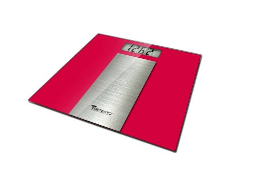 Detecto LCD Digital Scale, Red, Stainless Steel
