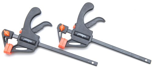 Rolson Tools 14605 2pc 100mm Mini Rapid Bar Clamp