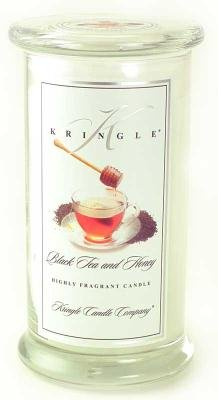 BLACK TEA and HONEY Large Classic 95 Hour Apothecary Jar by Kringle Candles