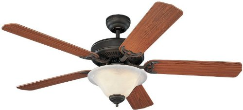 Monte Carlo 5HS52RBD-L Homeowner's Deluxe 52-Inch 5-Blade Ceiling Fan with Light Kit, Roman Bronze Finish