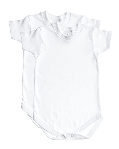 2 Pack Baby Onesie Bodysuit - Round Crew Neck, Easy Snap Closure - 0-3 Months