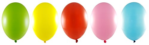 Flashing Party Balloons - 5 Assorted Colors With Different LED Light Modes: Fast, Slow, Steady, & Off. Great for House Parties, Celebrations, and Dance Clubs.