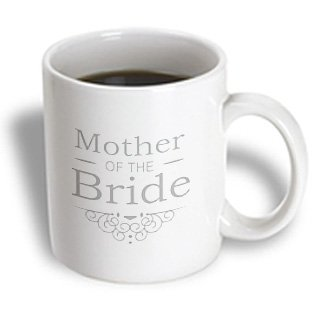 3Drose Mother Of The Bride, Silver, Marriage, Part Of Matching Wedding Party Set, Ceramic Mug, 11-Oz
