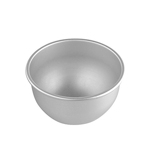 Dealglad® 6 Inch Aluminum Deep Semicircle Chiffon Cake Pan Bobbi Doll Princess Cake Mold Pudding Baking Mould (Dress Cake Pan compare prices)