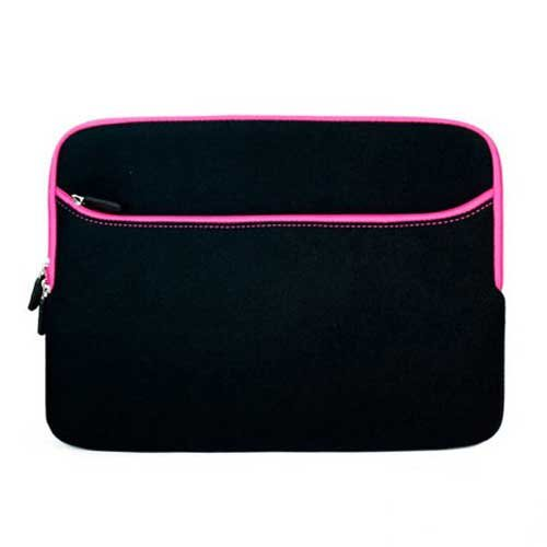 MacBook Pro Case Sleeve for All Models of the Apple MacBook Pro 13.3 Inch Laptop ( Black with Pink Trim ) case cowhide sleeve for macbook pro 15 4 inch laptop bag genuine leather file pocket computer for apple macbook pro15 covers