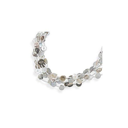 CleverSilver's Glass Bead Fashion Necklace With Shell