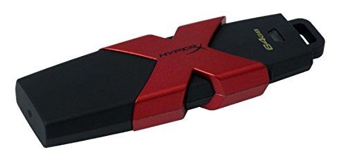 HyperX Savage HXS3/64 GB USB-Stick USB 3.0 schwarz/rot bis zu 350 MB/Sek R, 180 MB/Sek W