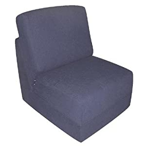 Kid's Cotton Sleeper Chair Pillow: No, Color: Blue from Fun Furnishings