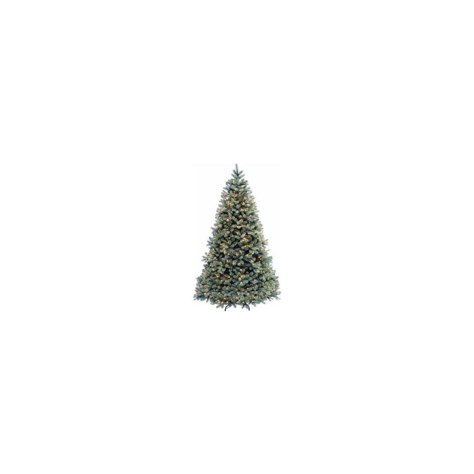 Pre Lit Feel Real Blue Fir Artificial Christmas Tree