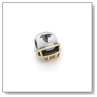 Pandora Atlanta Falcons Charm Football Helmet W/14k Usb790570-g102