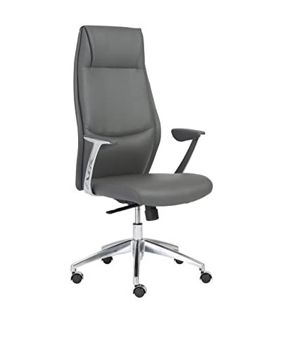Euro Style Crosby High Back Office Chair, Grey