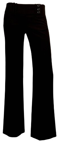 A. Byer 3 Button Extended Tab Pants 7 Black