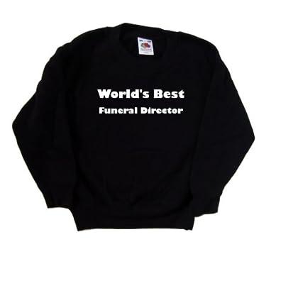 World's Best Funeral Director Black Kids Sweatshirt sale 2015