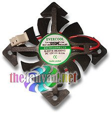 Video Card Replacement Fan 45mm x 10mm Drop In (Bury Fan) Evercool VC-EC4510M12S-X